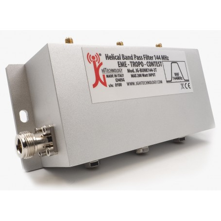 Helical pass band filter for VHF